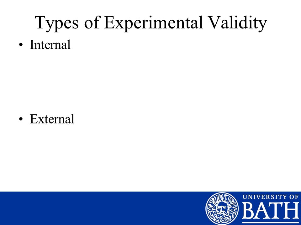 Types of Experimental Validity