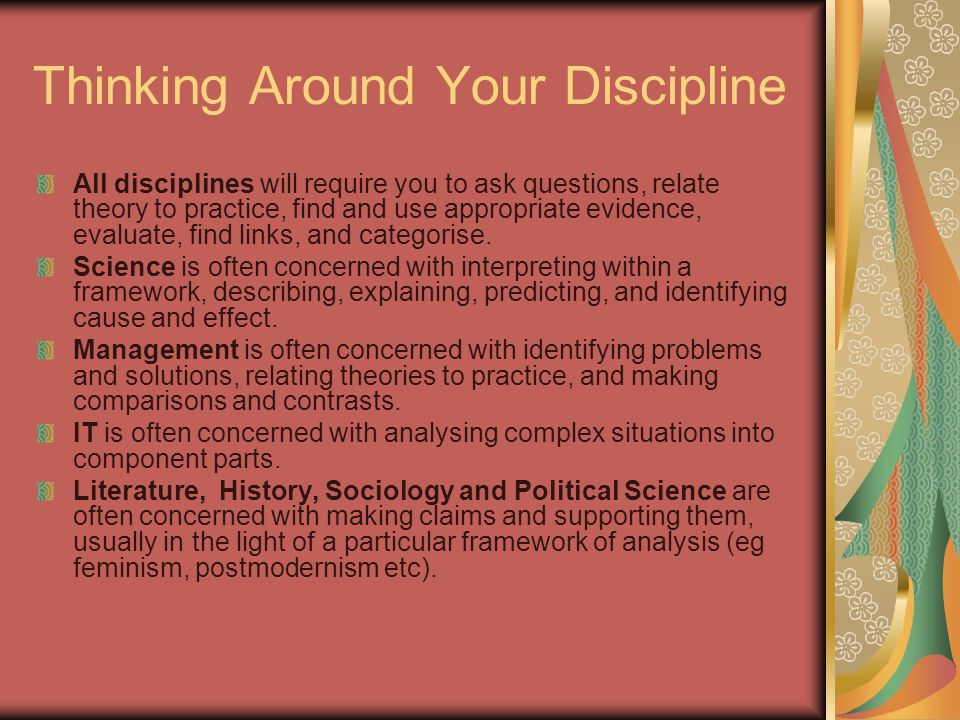 Thinking Around Your Discipline