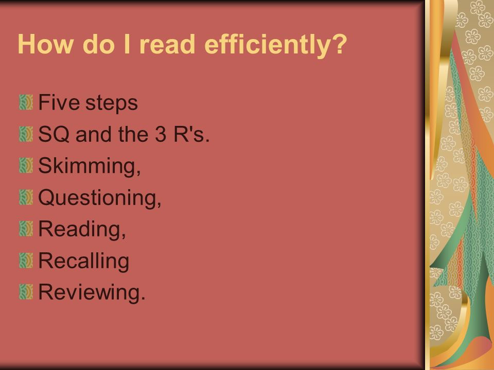 How do I read efficiently