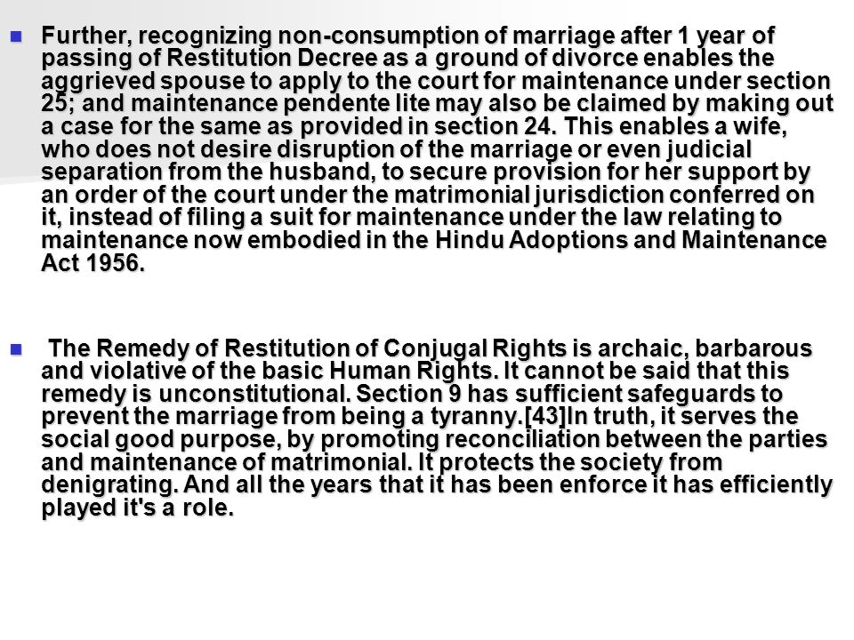 section 9 restitution of conjugal rights