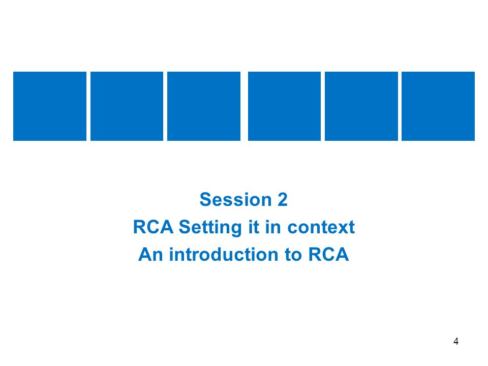 RCA Setting it in context