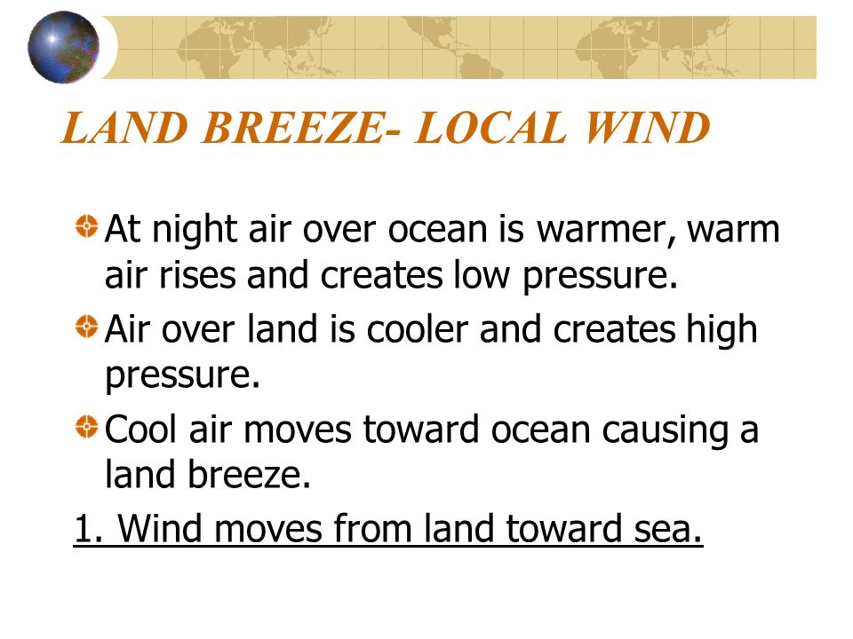 LAND BREEZE- LOCAL WIND