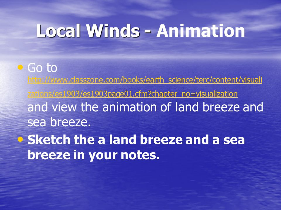Local Winds - Animation