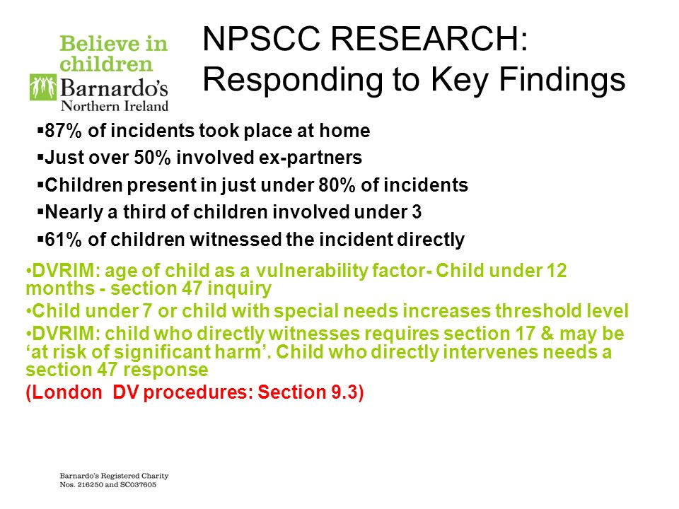 NPSCC RESEARCH: Responding to Key Findings