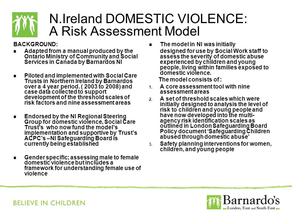 N.Ireland DOMESTIC VIOLENCE: A Risk Assessment Model