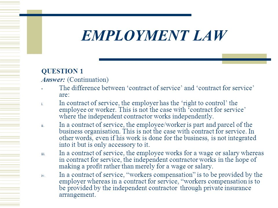 Employment Law Question 1 Ppt Video Online Download