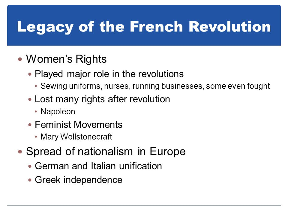 Legacy of the French Revolution
