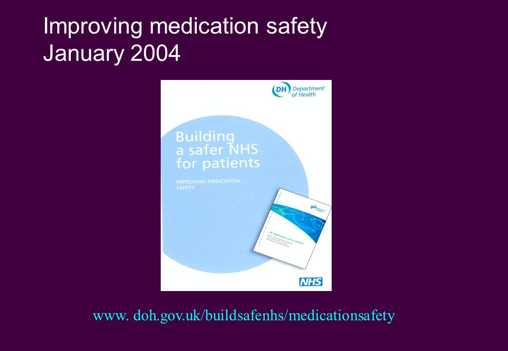 Improving medication safety January 2004