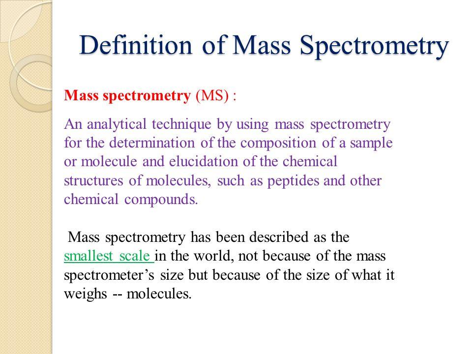 mass spectrometry vs mass spectroscopy