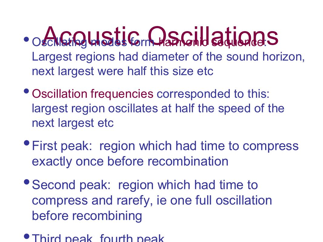 Acoustic Oscillations