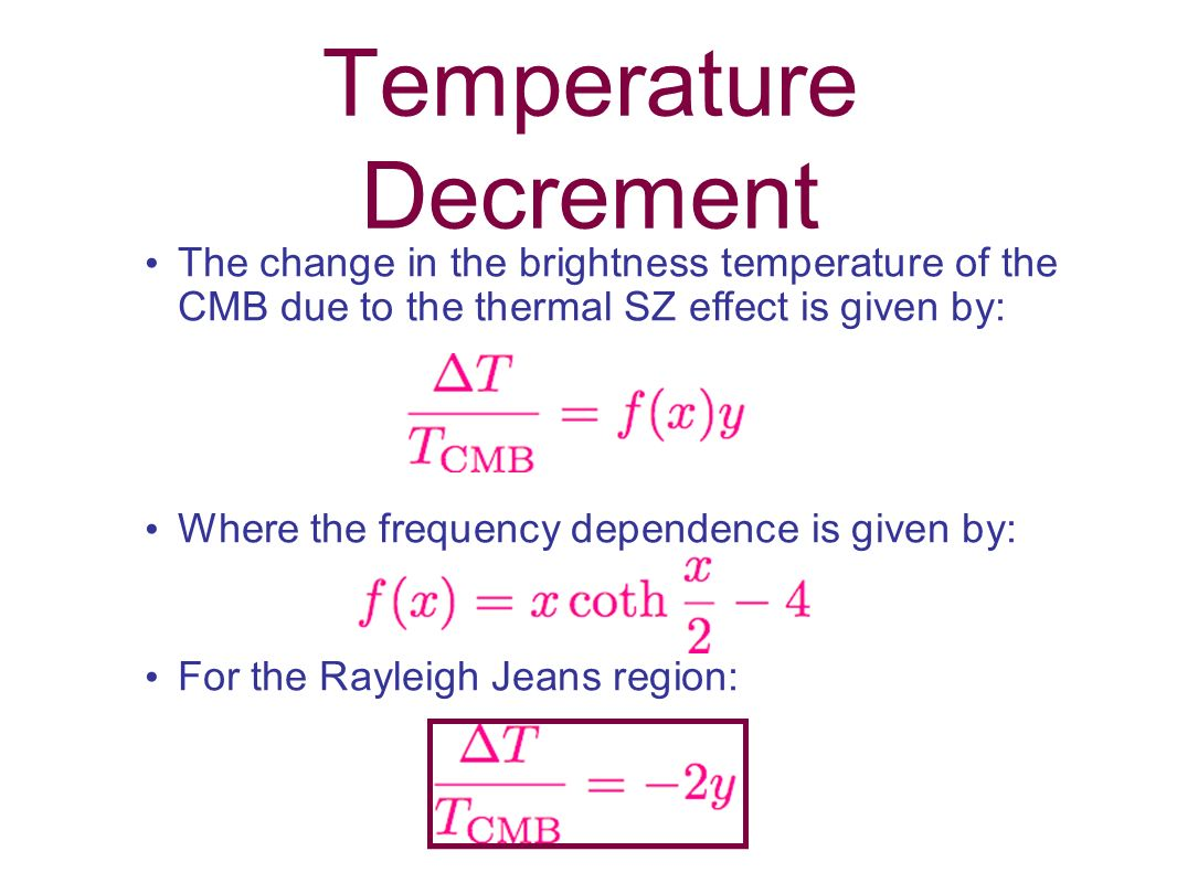 Temperature Decrement