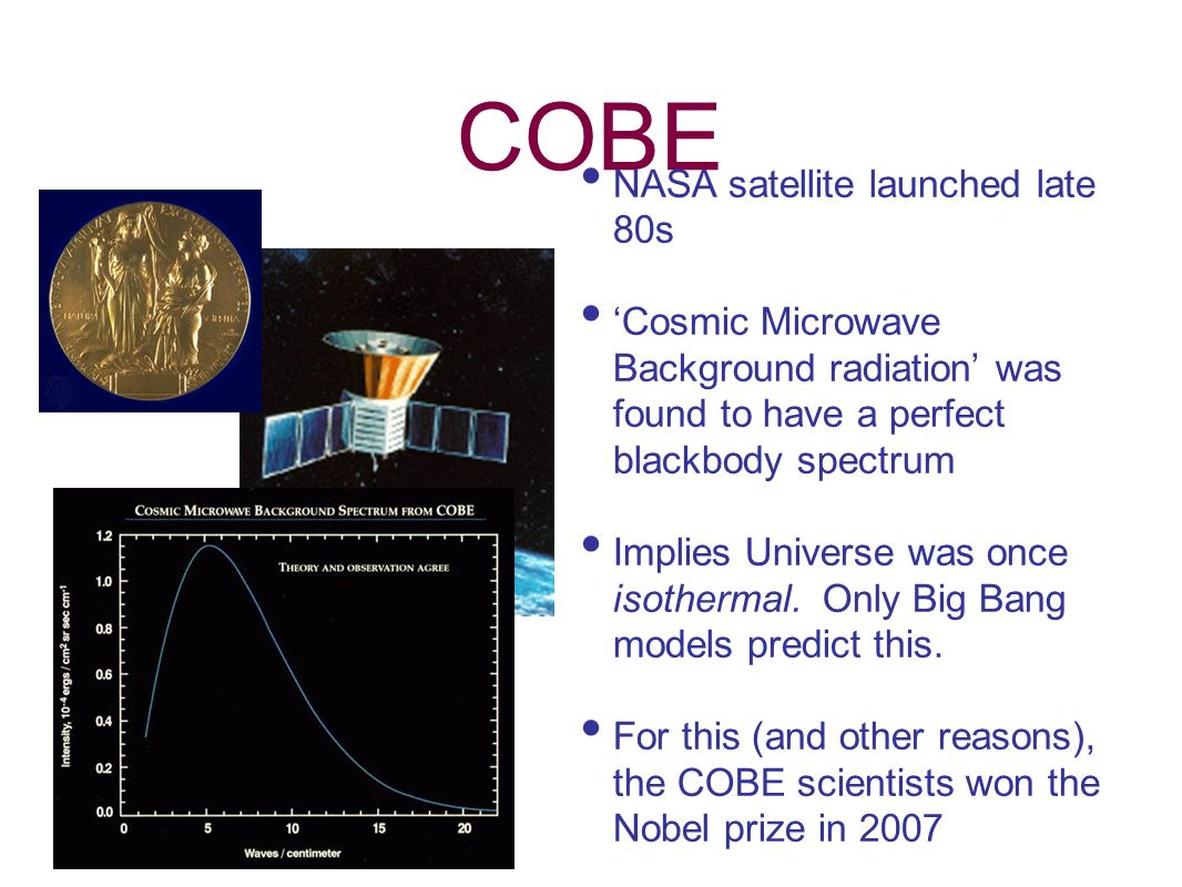 COBE NASA satellite launched late 80s