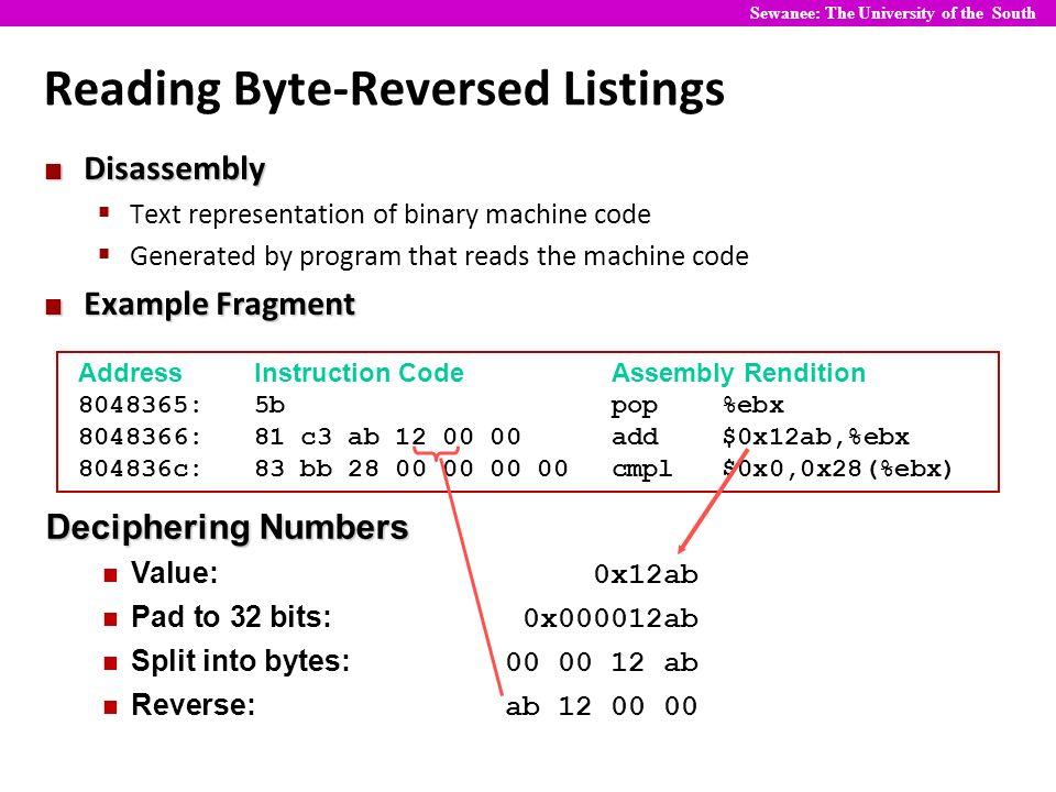 CS 270: Computer Organization Bits, Bytes, and Integers