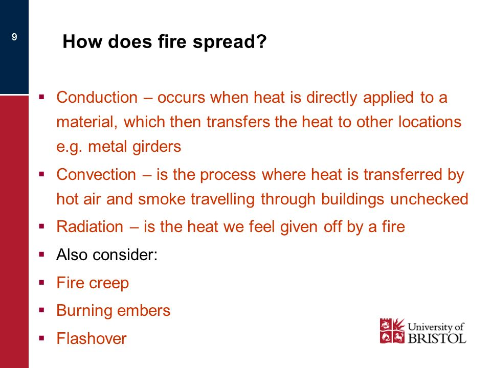 How does fire spread