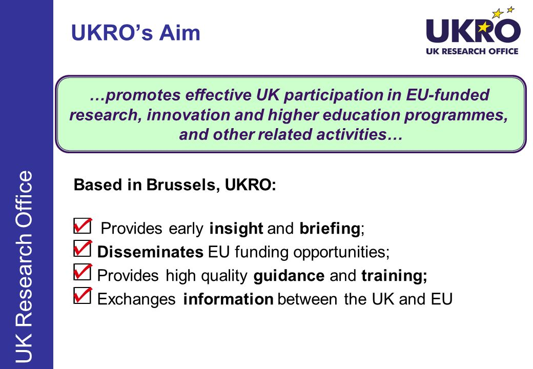UKRO's Aim UK Research Office