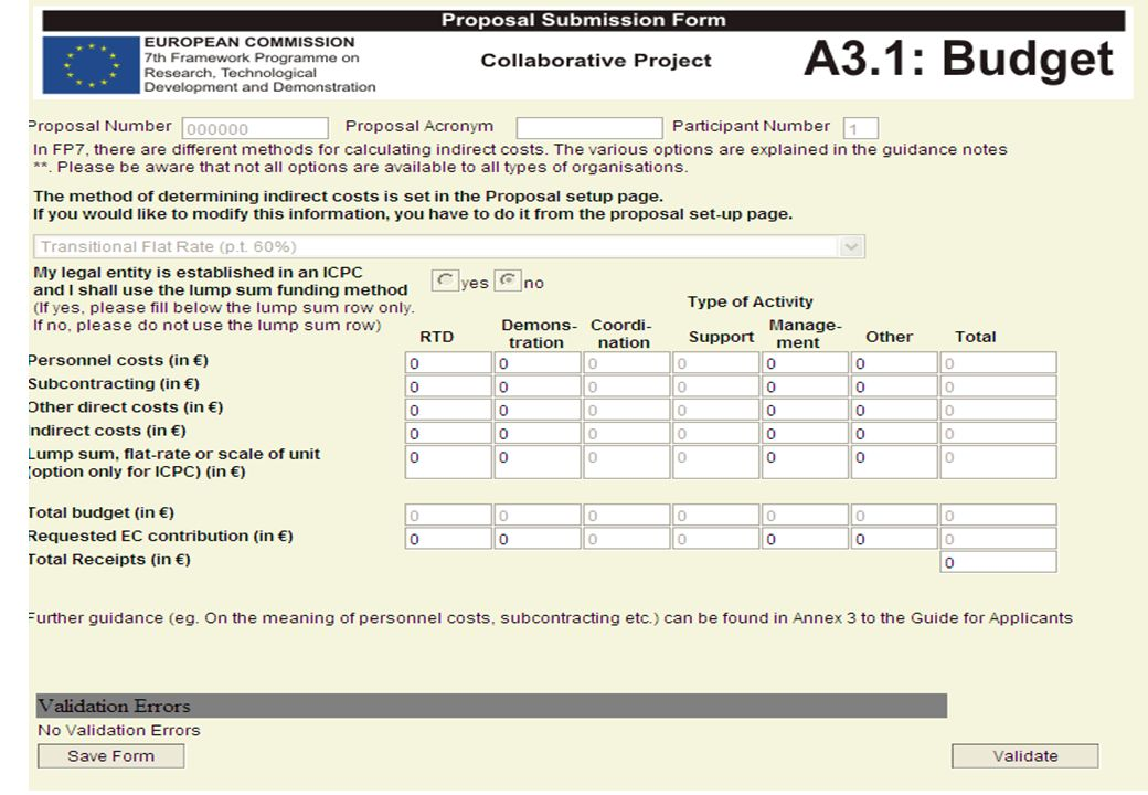 EPSS A3 Forms – Collaborative Project