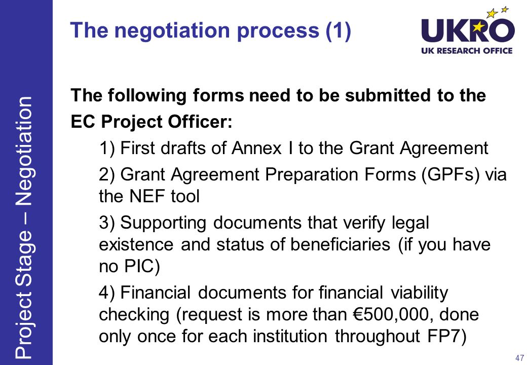 The negotiation process (1)