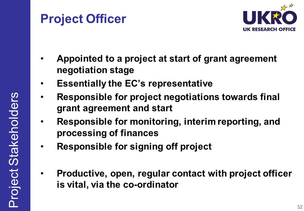 Project Officer Project Stakeholders