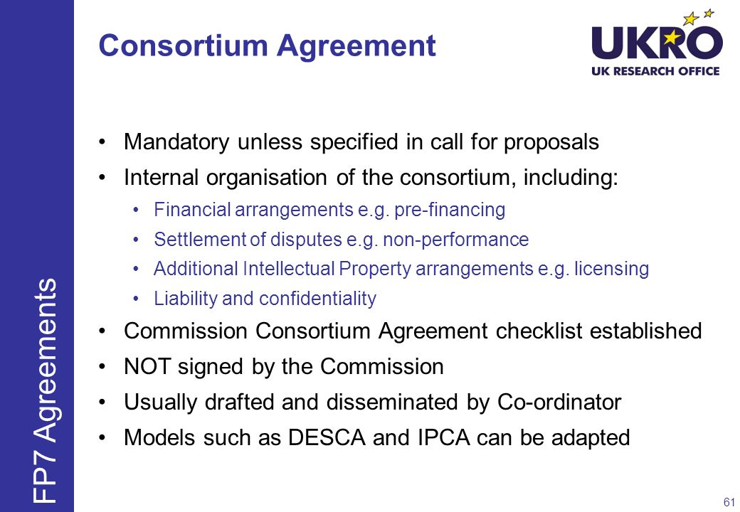 Consortium Agreement FP7 Agreements