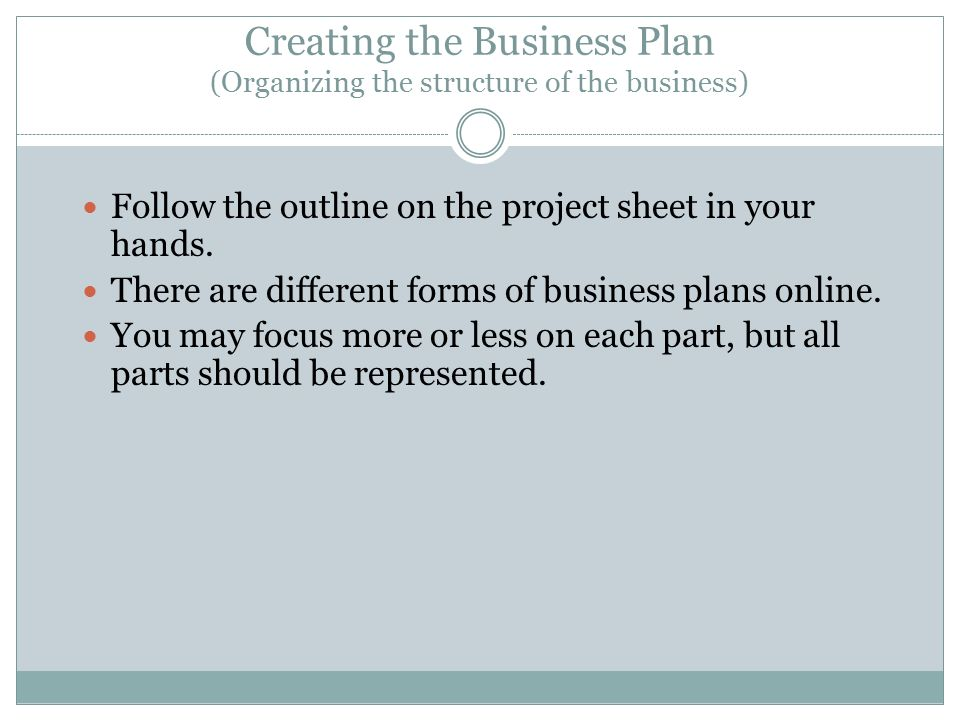 creating the business plan ppt download