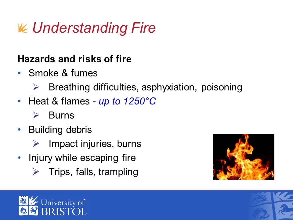 Understanding Fire Hazards and risks of fire Smoke & fumes