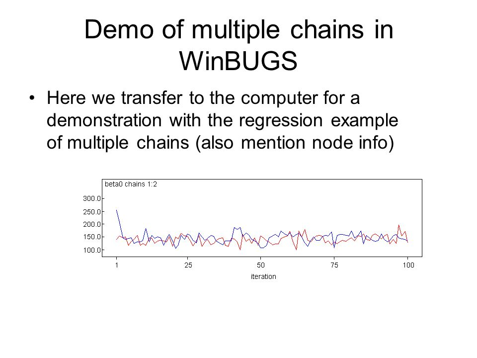 Demo of multiple chains in WinBUGS