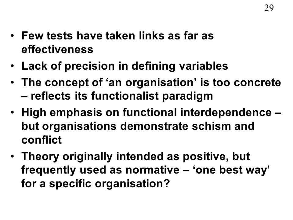 Few tests have taken links as far as effectiveness