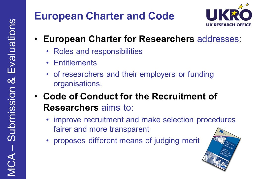 European Charter and Code