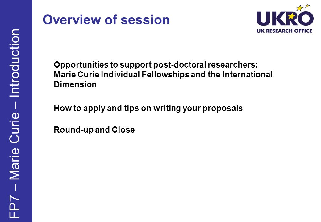 FP7 – Marie Curie – Introduction
