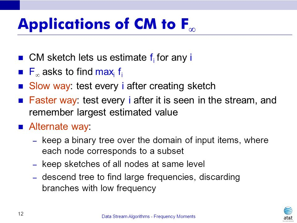 Applications of CM to F