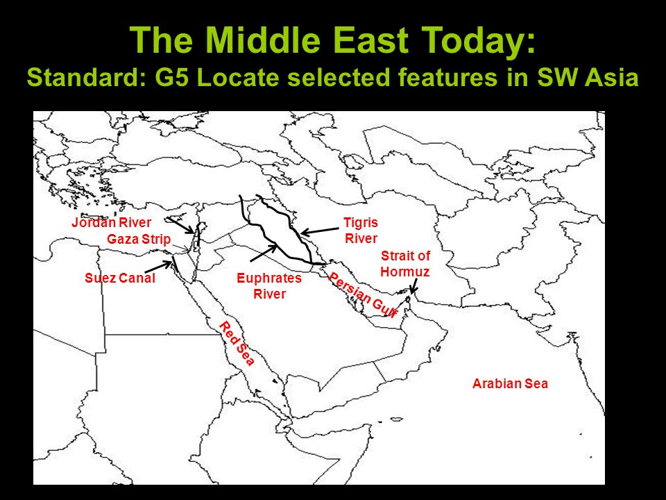 Jordan River Middle East Map.The Geography Of The Middle East Ppt Download