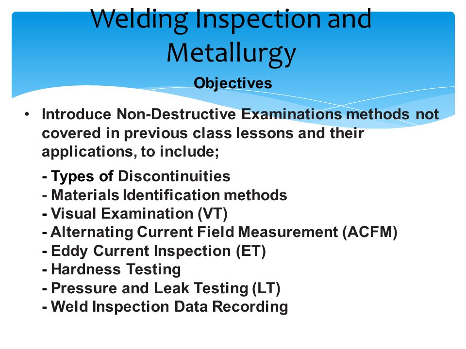 Welding Inspection and Metallurgy - ppt video online download