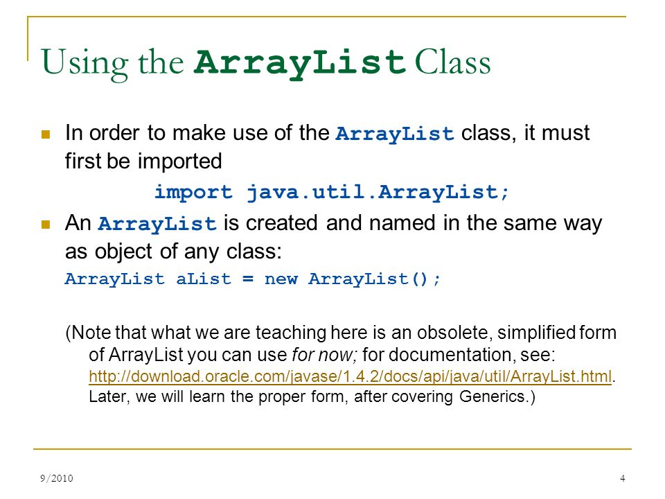 ArrayList, Multidimensional Arrays - ppt video online download