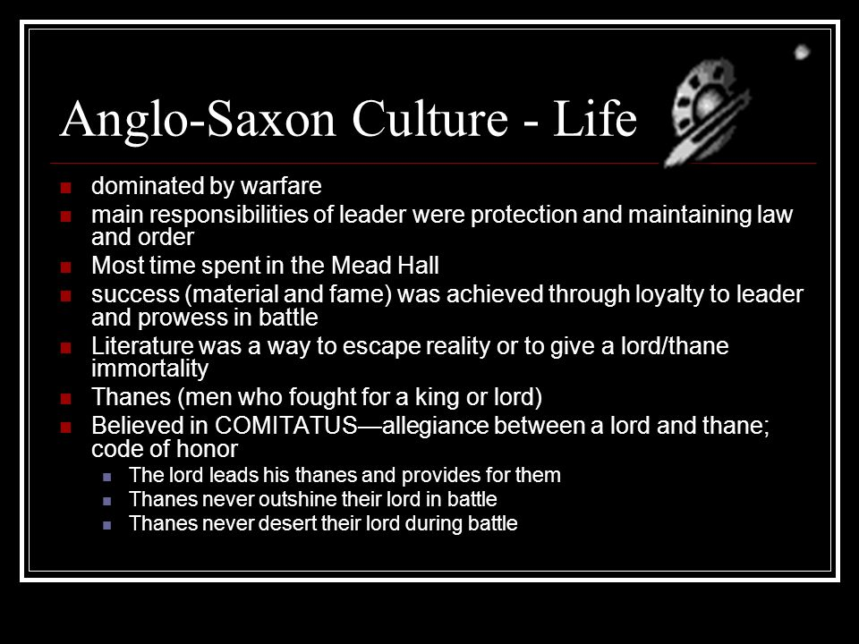 anglo saxon life and culture