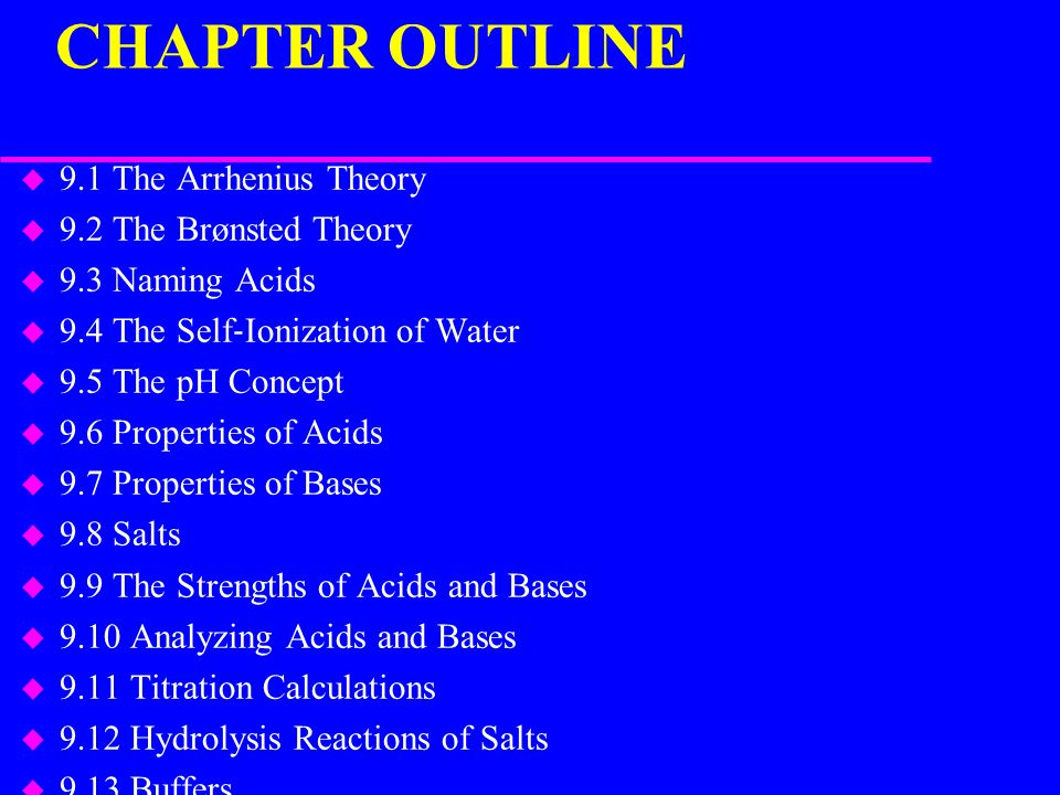 Chapter 9 Acids And Bases Ppt Download