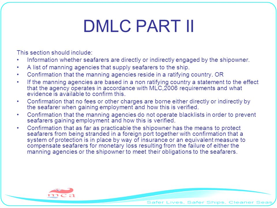 DMLC PART II This section should include: