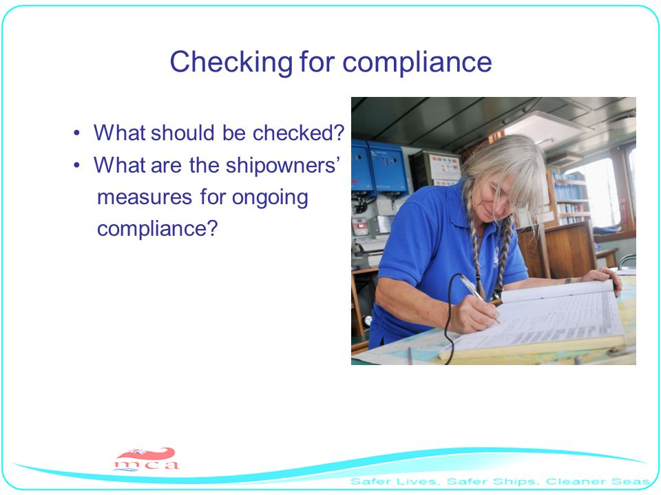 Checking for compliance