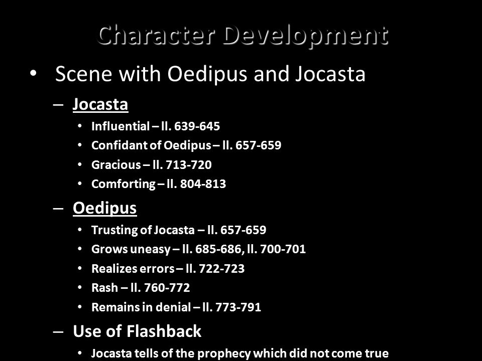 oedipus character development
