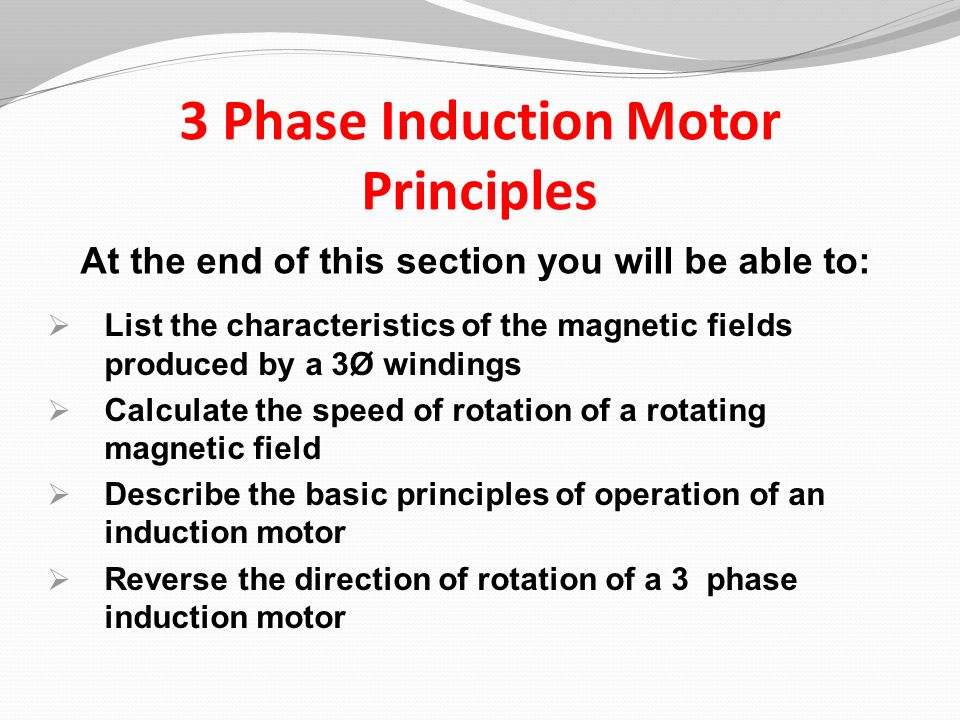 2 3 Phase Induction Motor Principles