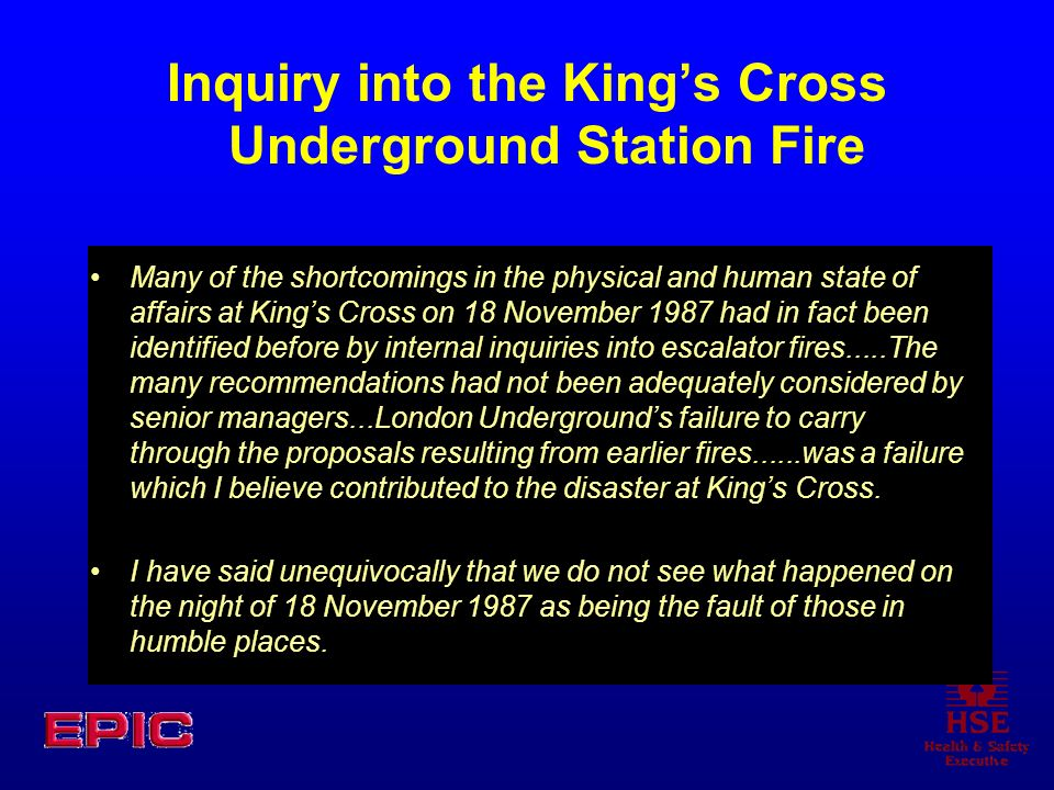 Inquiry into the King's Cross Underground Station Fire