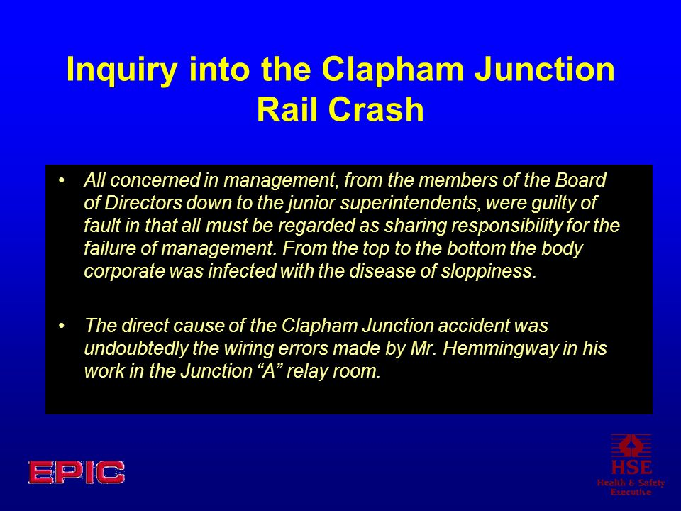Inquiry into the Clapham Junction Rail Crash
