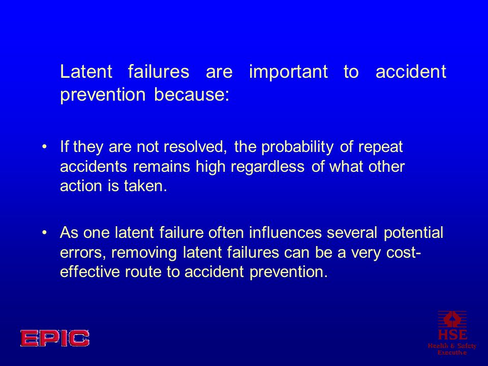 Latent failures are important to accident prevention because: