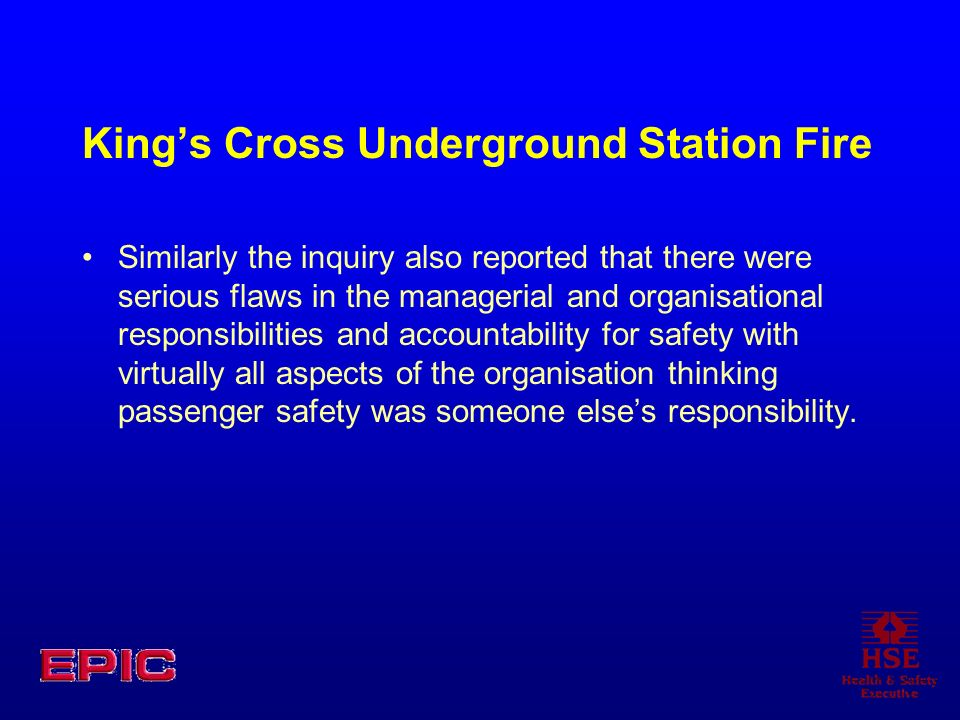 King's Cross Underground Station Fire