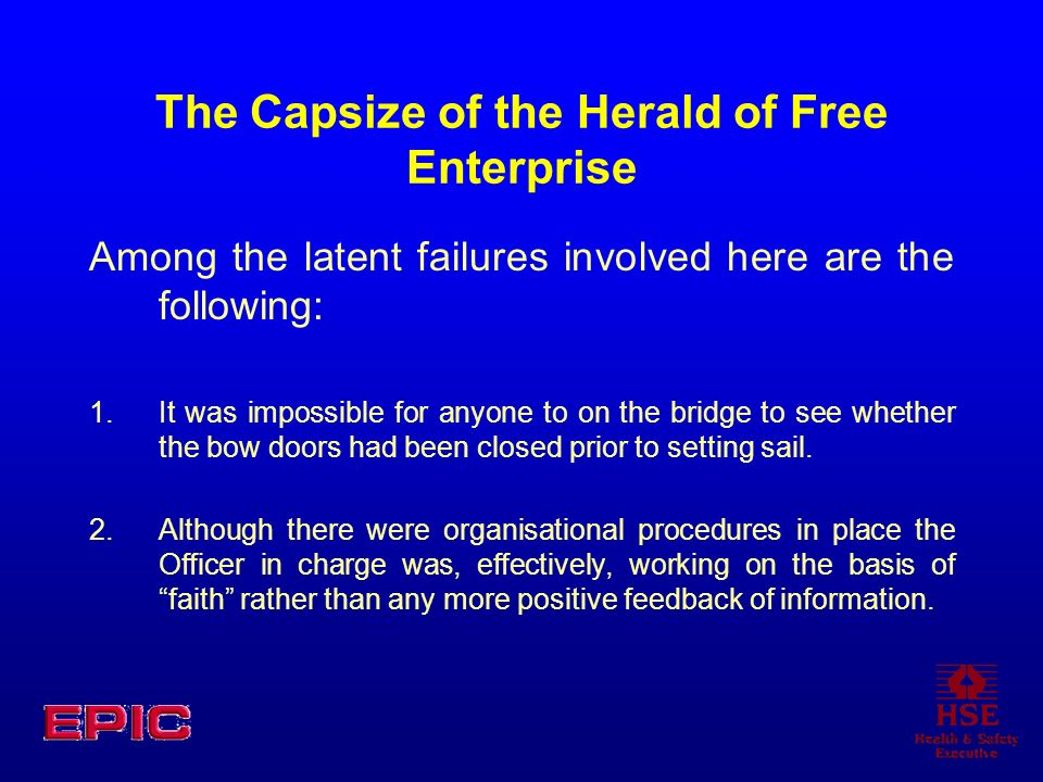 The Capsize of the Herald of Free Enterprise