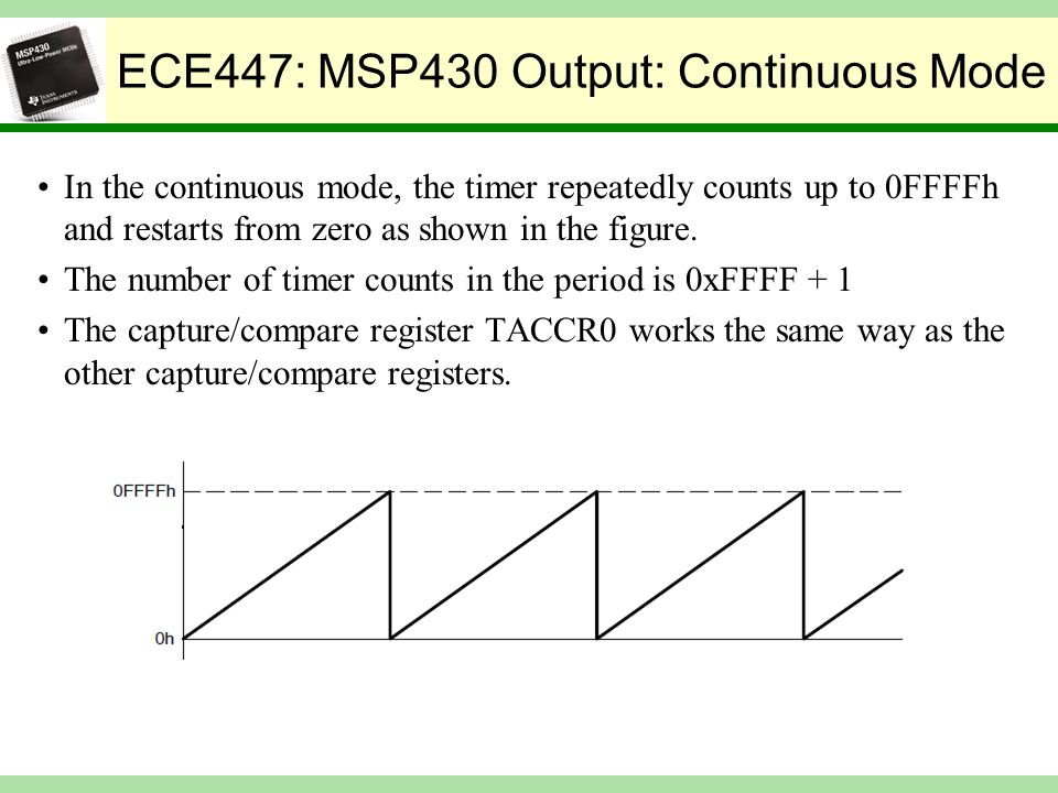 Lecture 11: TI MSP430 Timers Compare Modes - ppt video online download