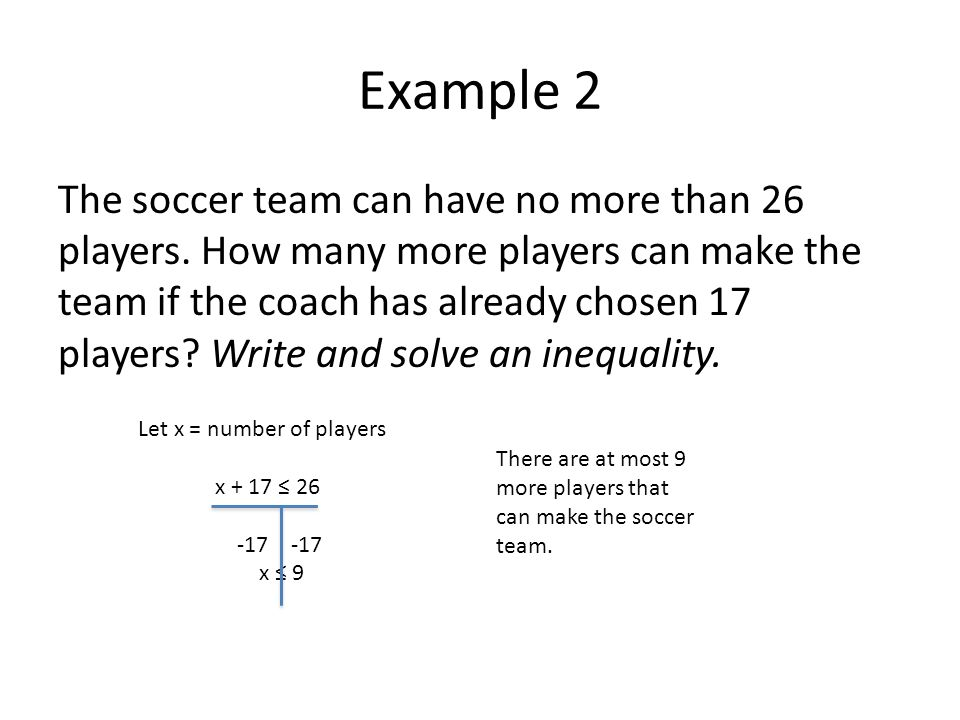 More Word Problems with Inequalities - ppt download
