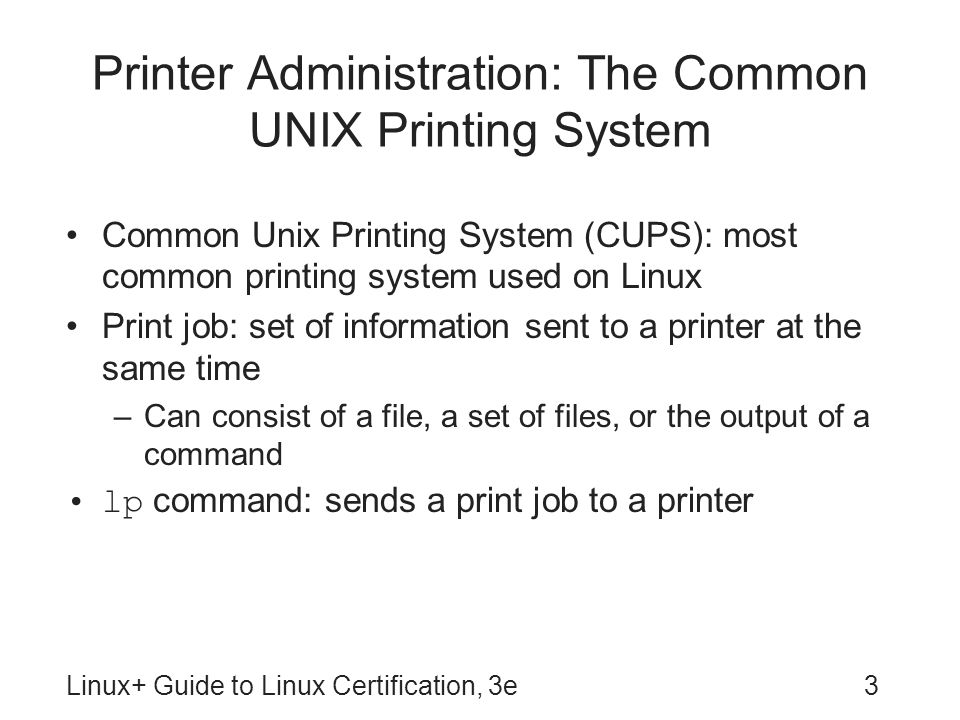 Linux+ Guide to Linux Certification, Third Edition - ppt video ...