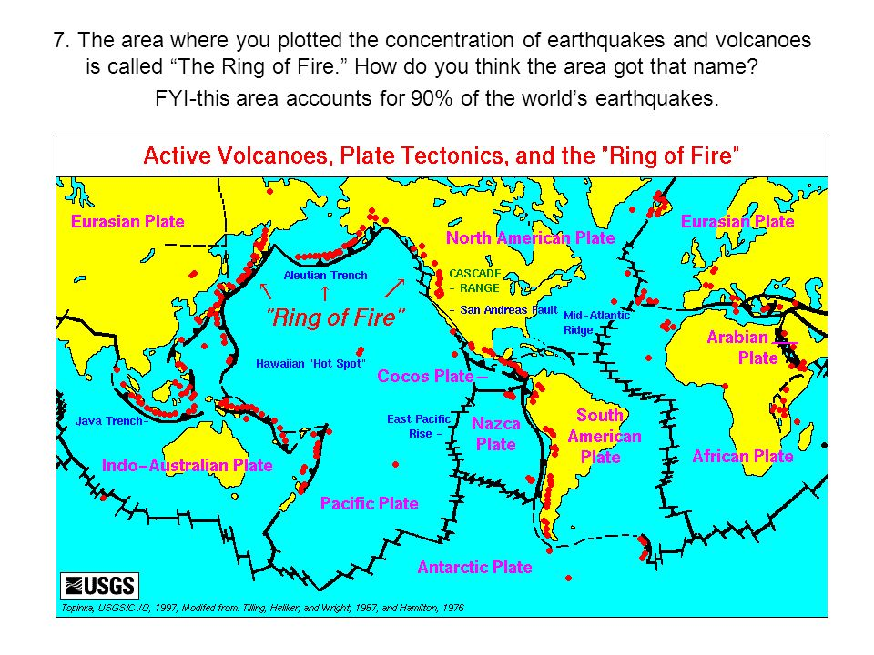 Map reading and earthquakevolcano plotting activity ppt download fyi this area accounts for 90 of the worlds earthquakes gumiabroncs Choice Image