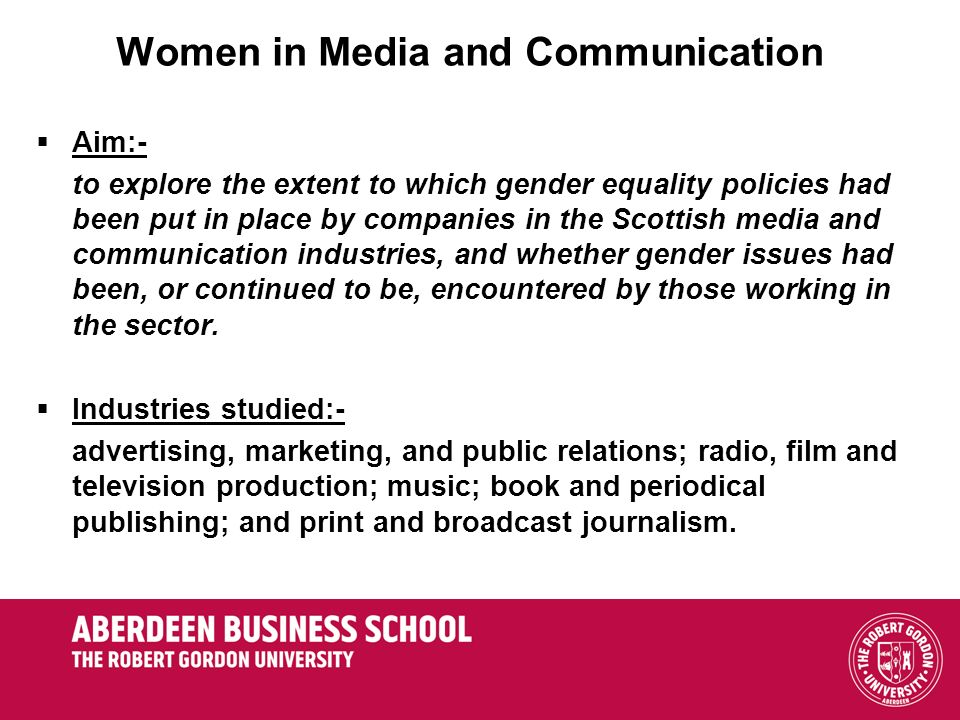Women in Media and Communication