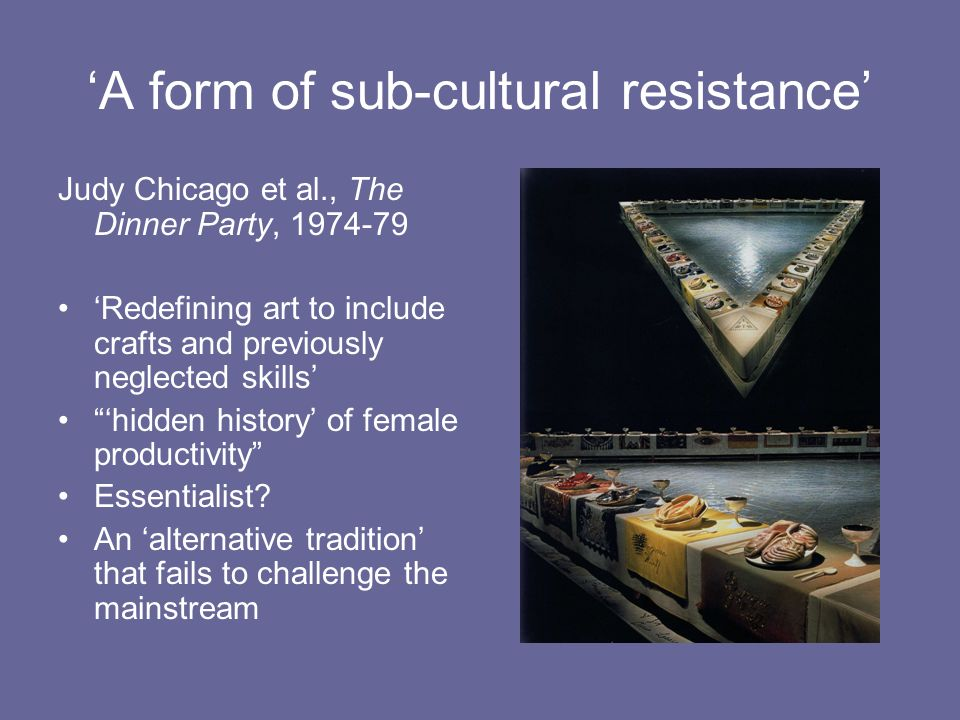 'A form of sub-cultural resistance'
